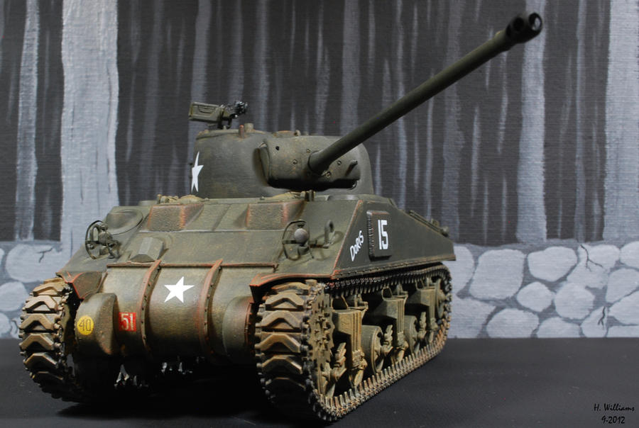 Sherman Firefly Front by 12jack12