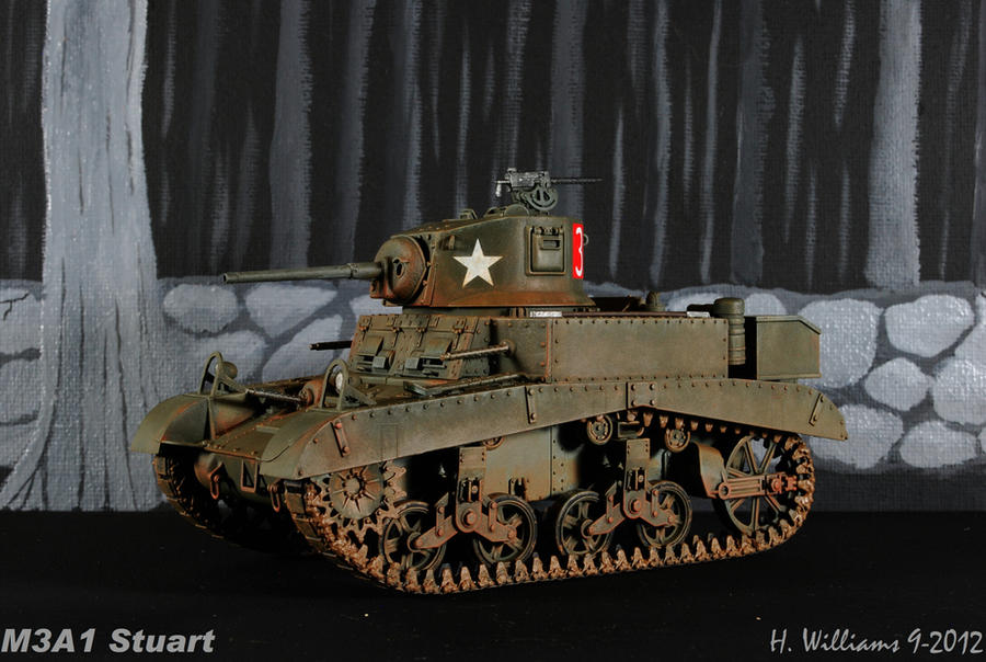 M3A1 Stuart 4 by 12jack12