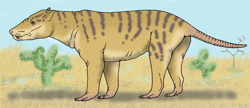 Neocene - Marsupial Hyena by Pristichampsus