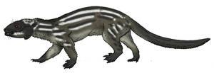 Didelphodon by Pristichampsus
