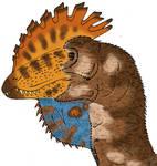 All Yesterdays Fan-art - Luis Rey-ized Dilophosaur
