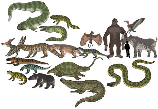 Skull Island Bestiary - Scale Diagram 4