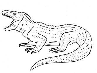 Prehistoric Monsters - Fire Lizard by Pristichampsus