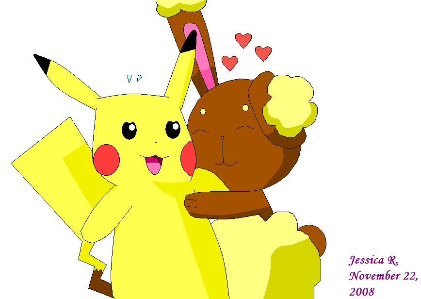Gallery For > Buneary And Pikachu