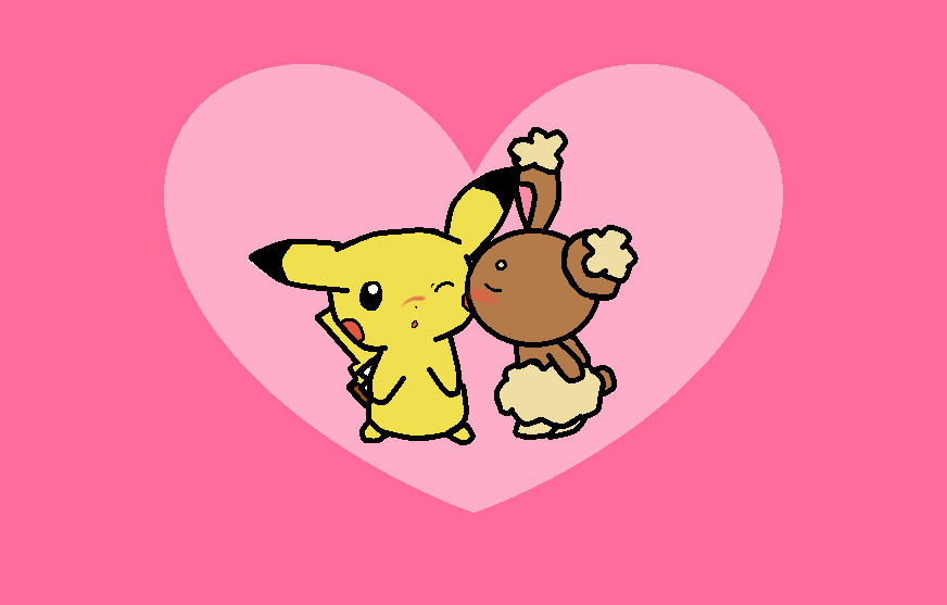 Buneary and Pikachu- Kiss by BunearyxPikachu4ever on ...