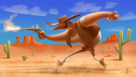 Gunslinger by griffinator