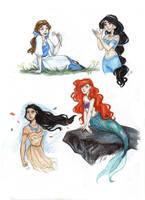 disney princess by drakonarinka