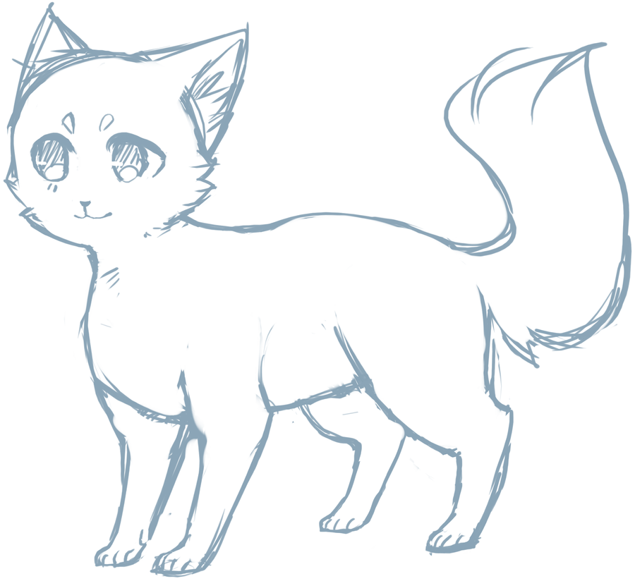 Cat sketch by topachi 900 824 drawing cats for Sketch online free