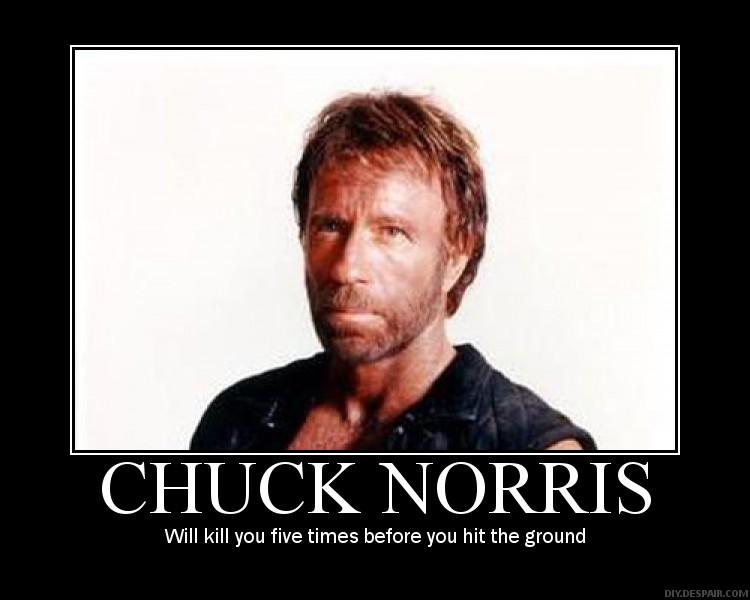 Chuck norris lost his virginity