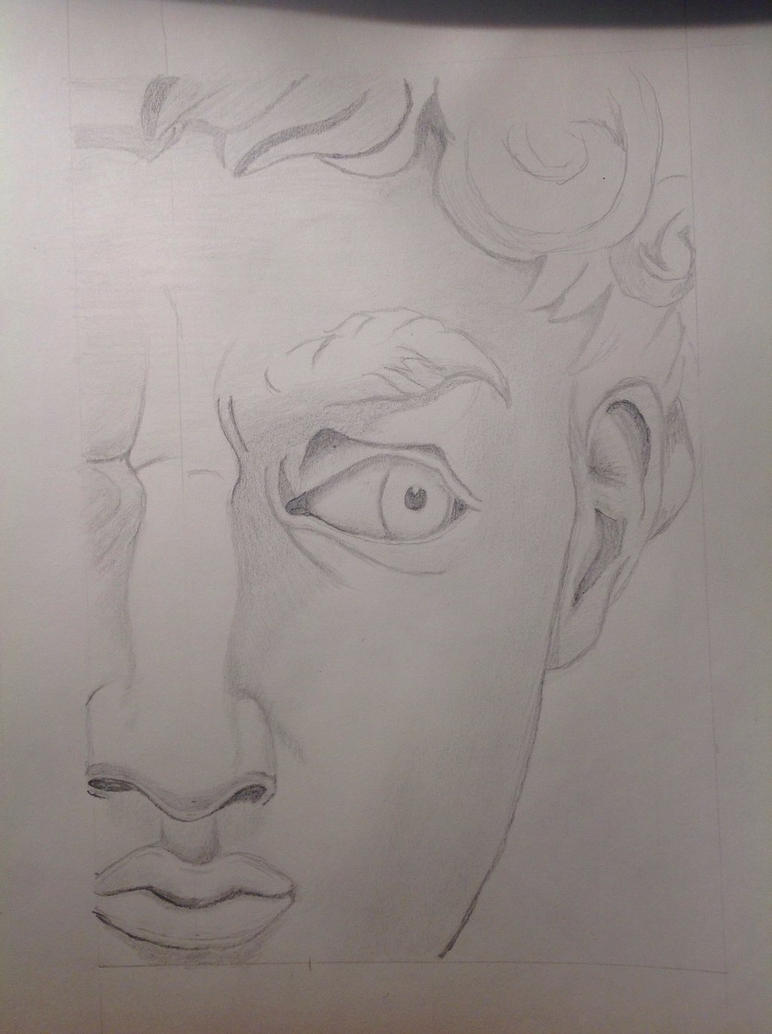 Trying to draw David  by Aquinates
