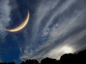 Moon Double Exposure 3007