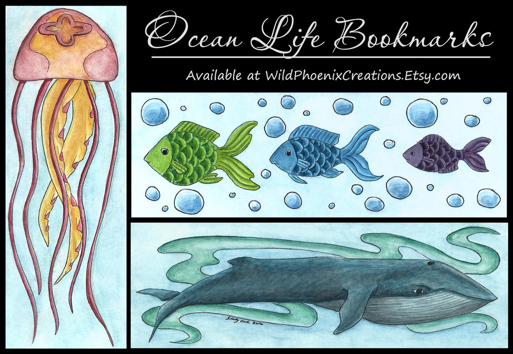 Ocean Life - Bookmark Designs