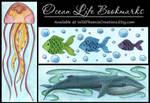 Ocean Life - Bookmark Designs by Wildphoenix22