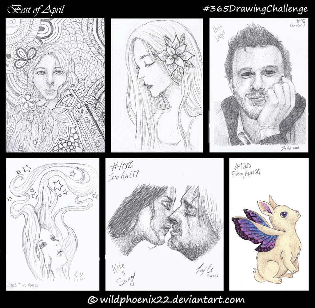 365 Drawing Challenge - Best of April