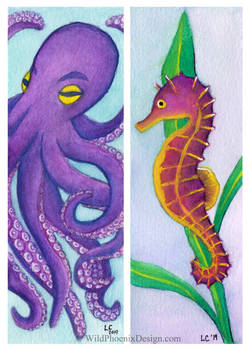 Sea Creatures Bookmarks