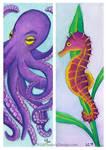 Sea Creatures Bookmarks
