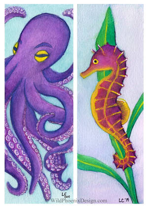 Sea Creatures Bookmarks by Wildphoenix22