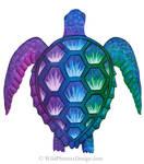 Technicolor Turtle by Wildphoenix22