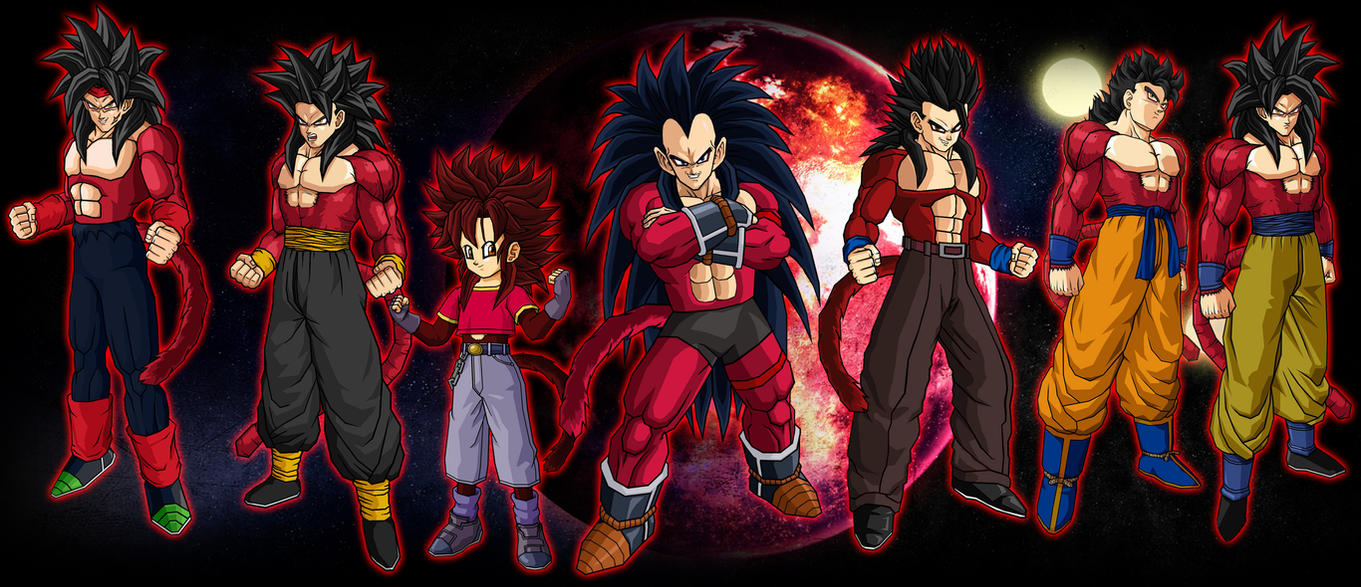 Bardock Family SSJ4 by theothersmenGoku And Gohan Fusion Ssj4