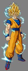 Majin Goku by theothersmen