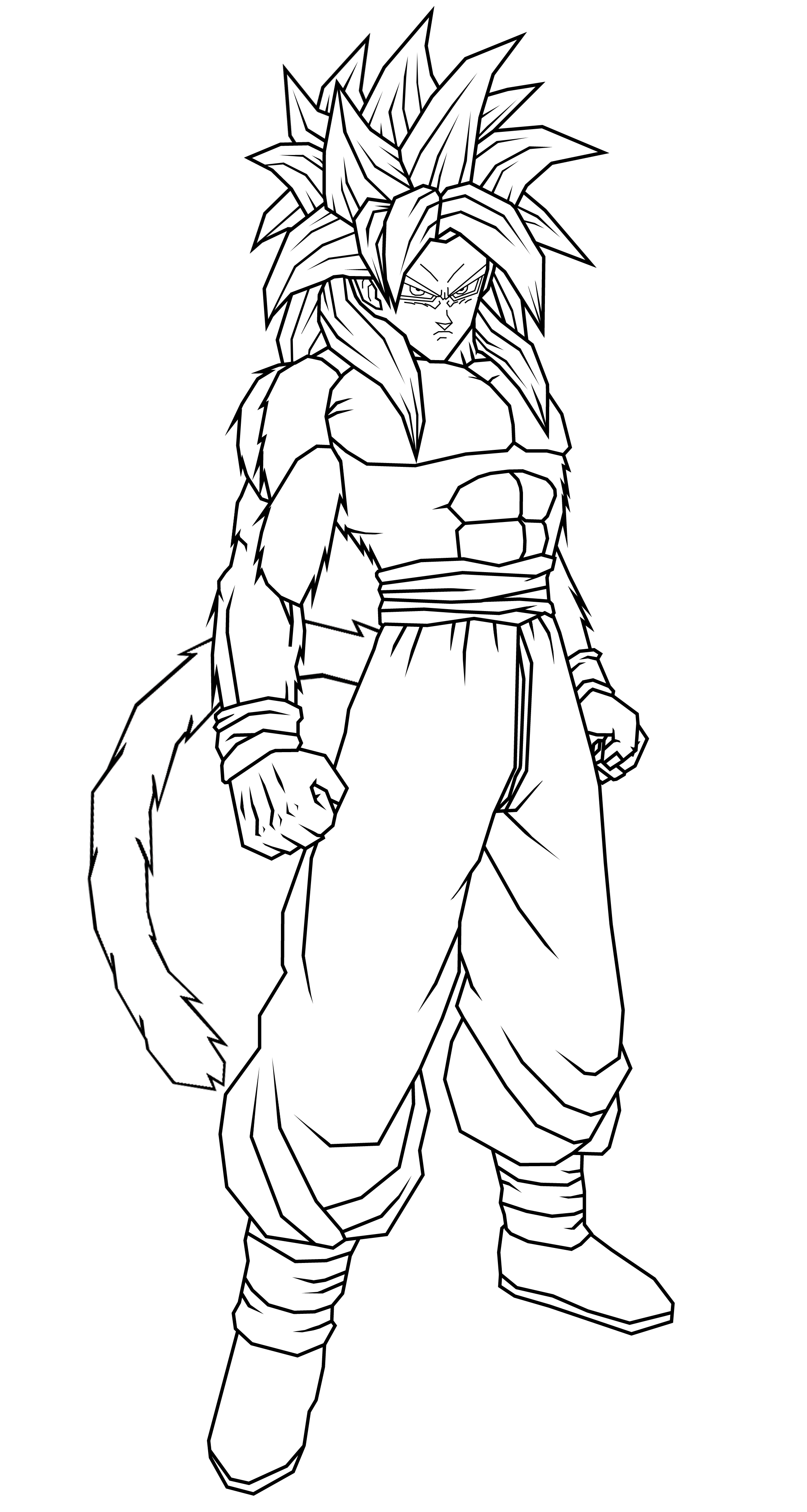 Goku GT SSJ4 Lineart by theothersmen on DeviantArt