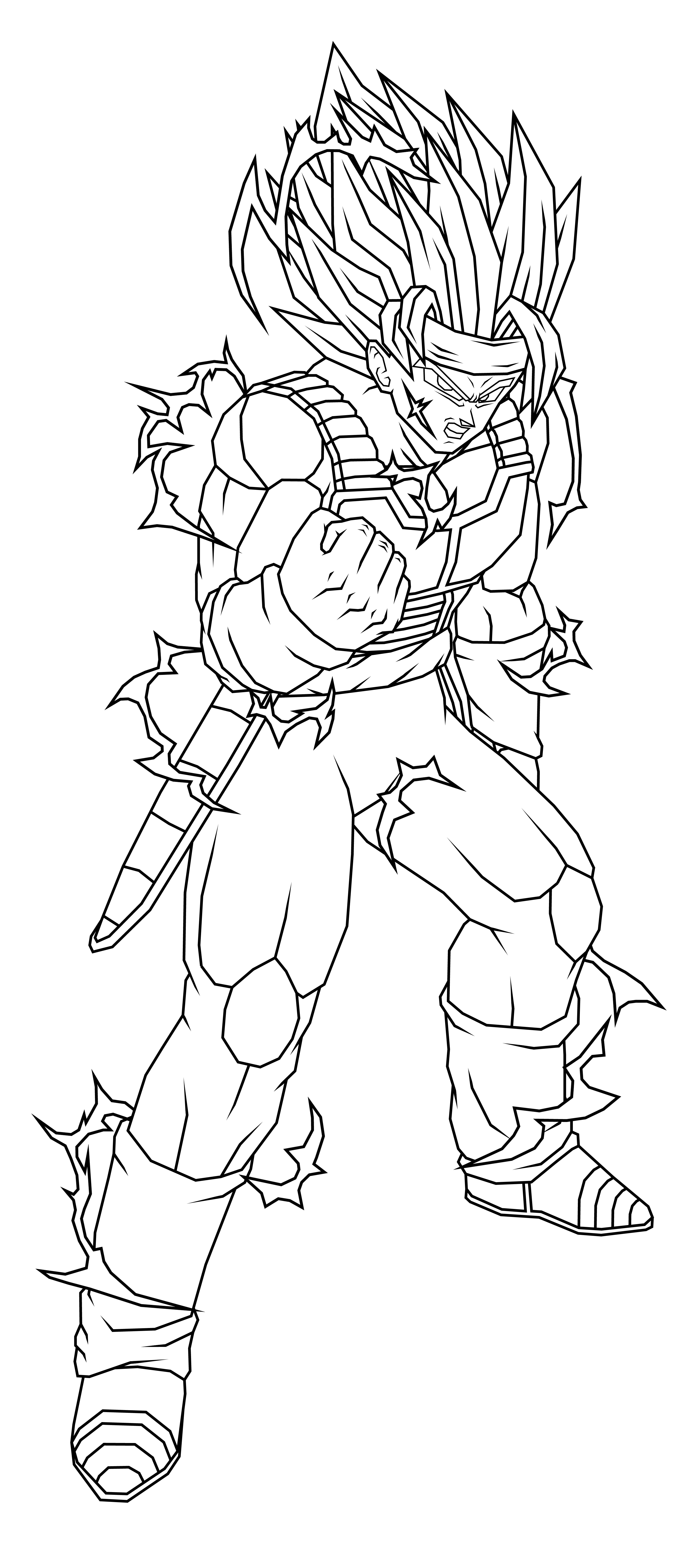 Bardock ssj4 para colorear - Imagui