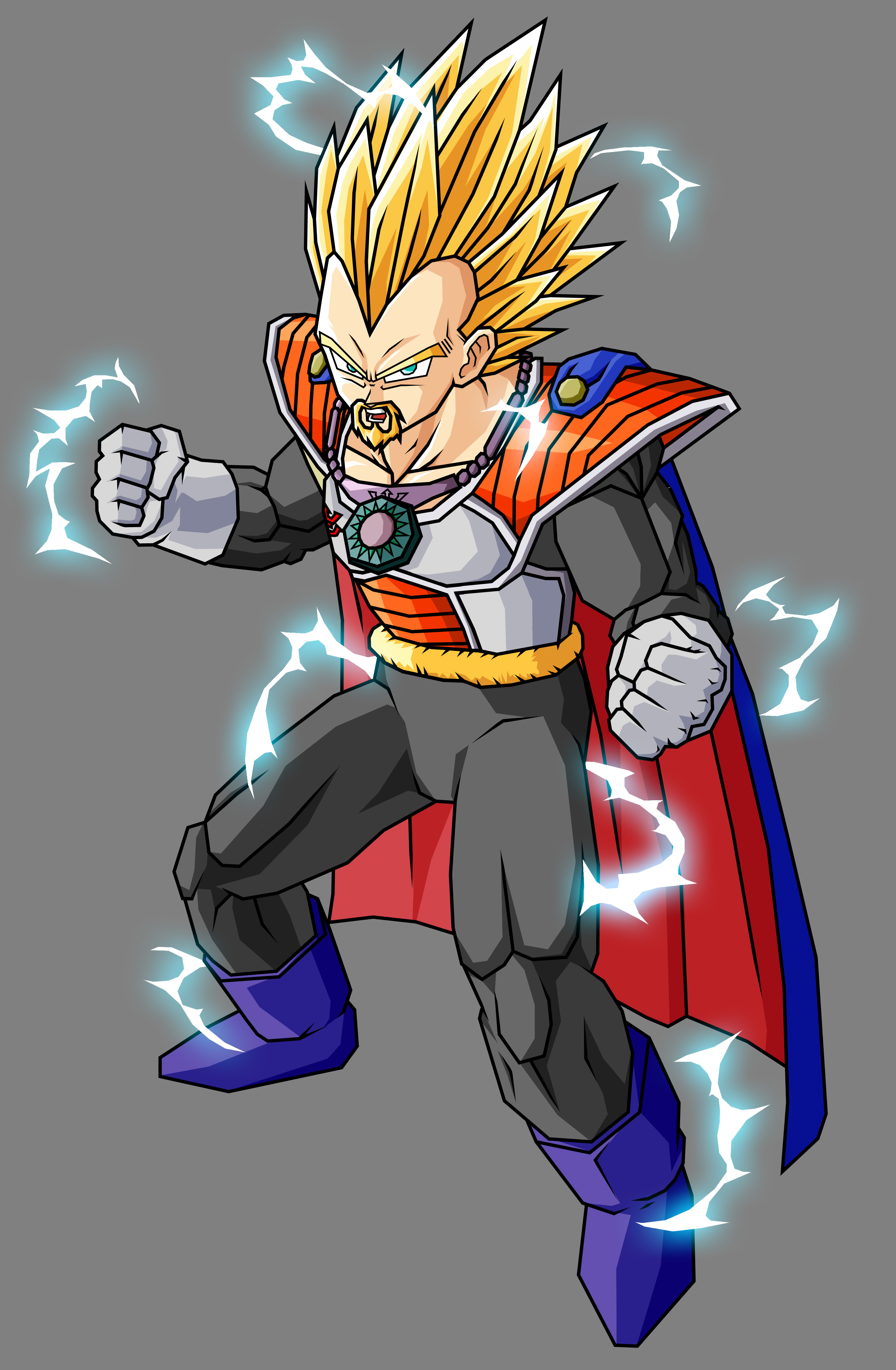 King Vegeta SSJ2 by theothersmen