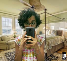 girl in the room