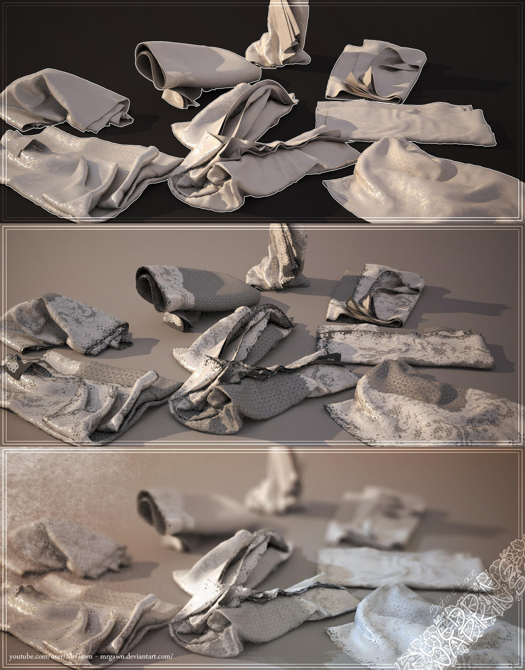 Satin And Lace Napkins