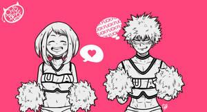 Uraraka and Bakugou UA Cheerleaders