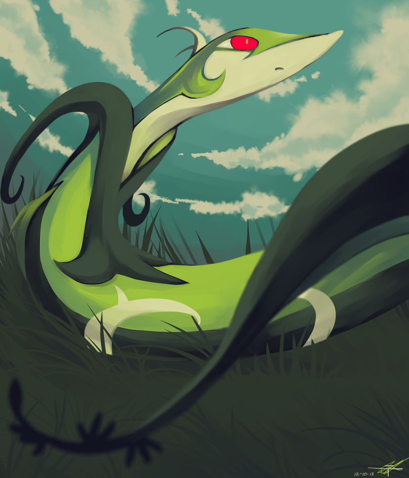 Day10 [GRASS] Serperior by Rock-Bomber