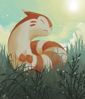 Day13 [NORMAL] Furret by Rock-Bomber