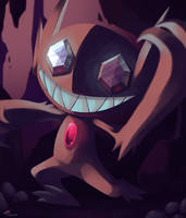 Day29 [SCARIEST] Sableye by Rock-Bomber