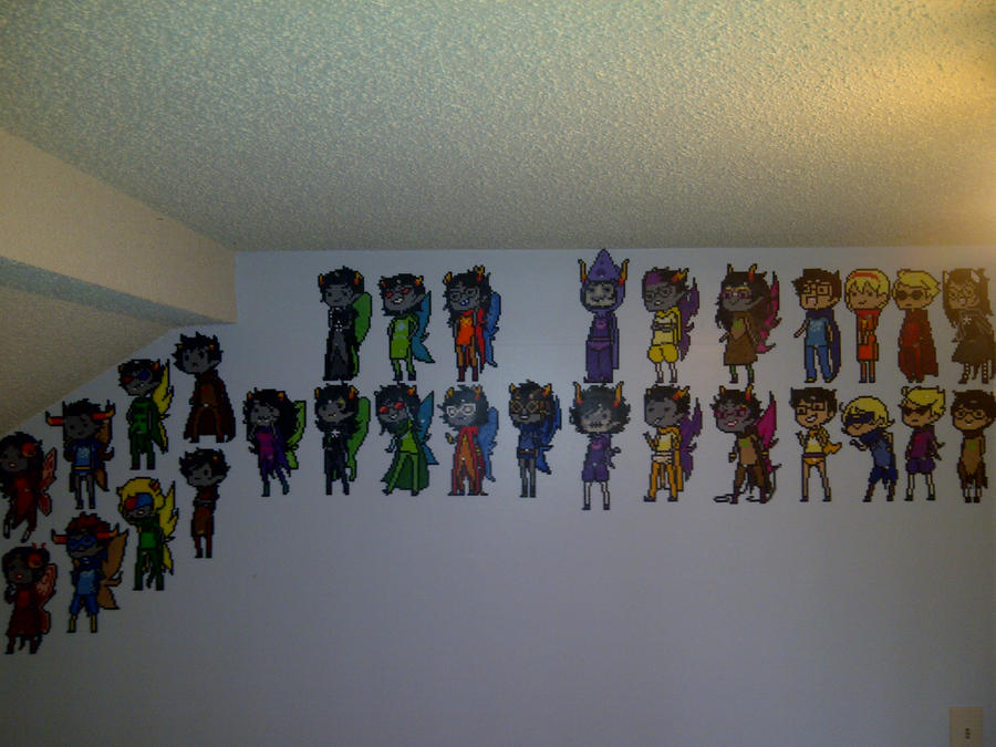 UPDATE: The Great Wall of Homestuck by LingeringSentiments