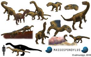 Spore Dinosaurs: Massospondylus by edmundpjc