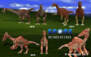Deinocheirus Spore Model Timeline