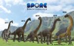 Brachiosaurus Spore Model Timeline
