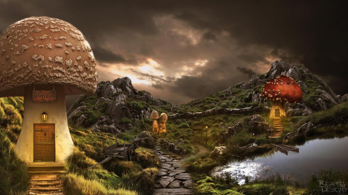 Mushroom Village by Xreaper19