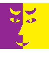 Purple Yellow Man by Latinamuser