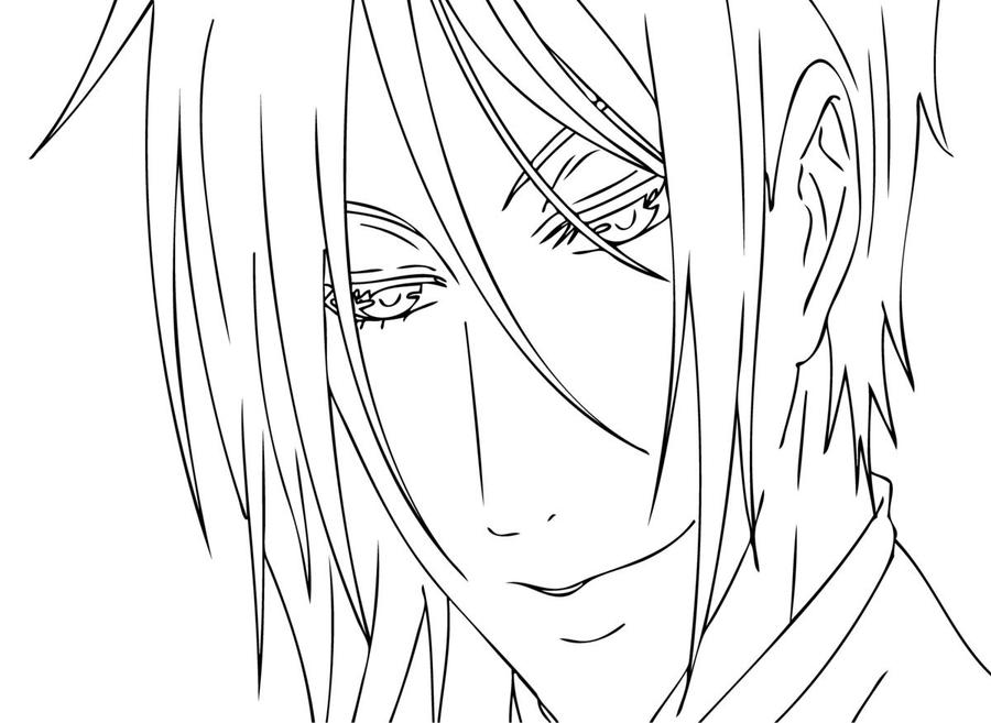 the gallery for  gt  undertaker black butler coloring pages Gothic Anime Coloring Pages  Black Butler Sebastian Coloring Pages
