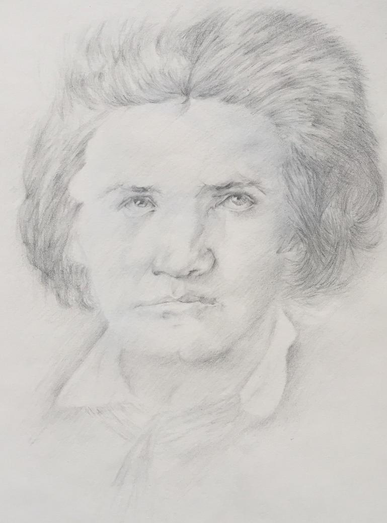 Beethoven Portrait by VictorVinceti
