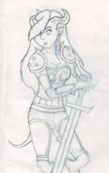 Draenei Warrior by aviary