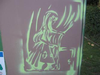 San Jose Street Art - Alice 2 by aviary