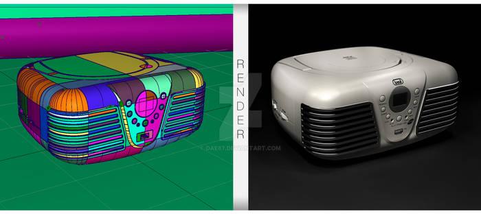 Vintage Radio 3D Model+Rendering