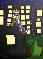 Sitting beneth the stars by Mikeypuma134