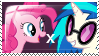 Pinkie Pie x Vinyl Scratch stamp by troudi94