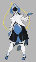 Lancer/Spade king costume design (W.I.P) by meanpersonaart