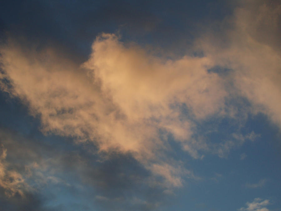 Pink clouds...