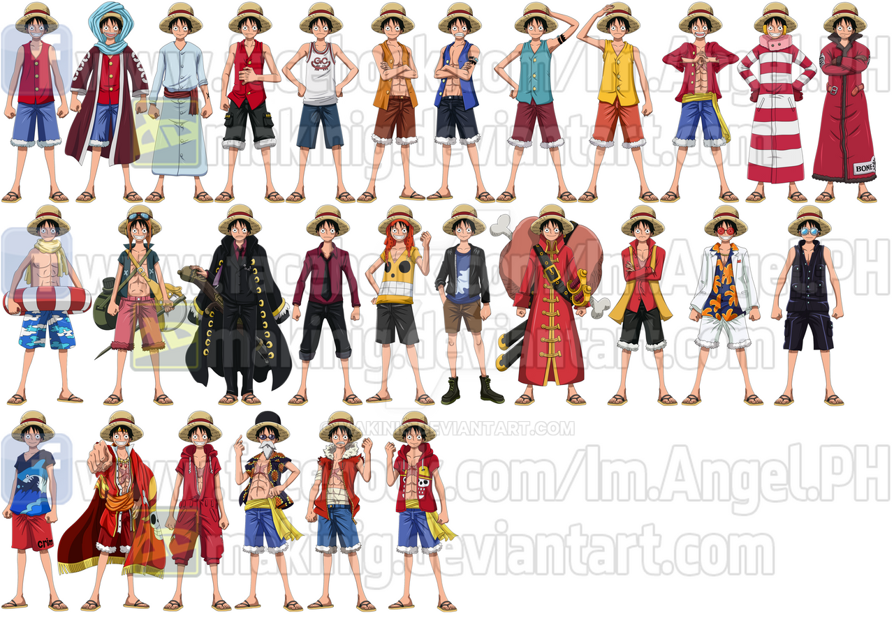 LUFFY OUTFITS by makinig on DeviantArt