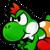 Yoshi PM TTYD Icon by SondowverDarKRose